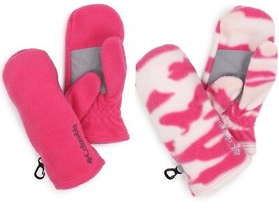 NWT Girls Columbia Baddabing Pink Winter Mittens Gloves S  L NEW