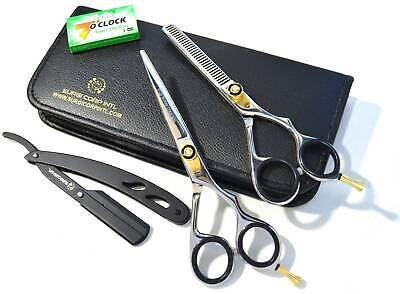 "6"" Professional Hairdressing Thining Scissors & Barber Salon Hair Cutting Shear"