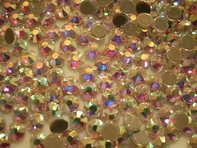 Strass thermocollant rond SS12 - 4 mm (hotfix) Cristal AA ++ haute qualité