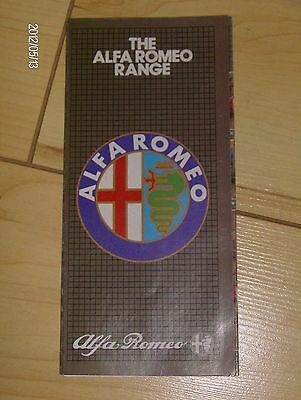 ALFA ROMEO SMALL SALES BROCHURE 1982/83  #Alf02