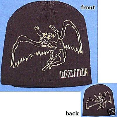 Led Zeppelin Swan Song Image Brown Ski Hat Beanie New Official Licensed