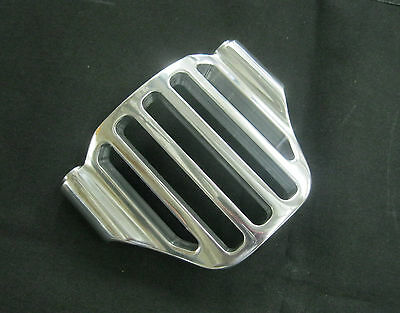 "3"" Polished Quarter Grill Pulley Cover for 3.35"" Ultima Open Belt Drives"