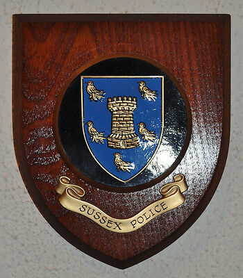 Sussex Police mess wall plaque shield crest Constabulary