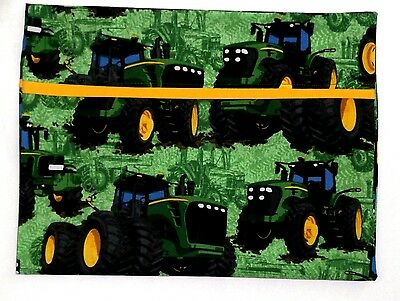 John Deere Toddler Pillowcase on Green Cotton JD28-3 New Handmade