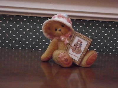 Cherished Teddies-Sylvia- Girl Bear With Picture Frame- Good Condition.