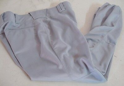 Russell Athletic Men's XL gray 100% polyester baseball pants reinforced knee