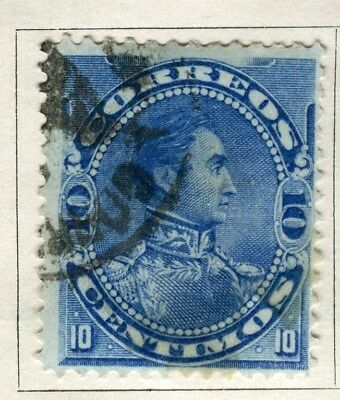 VENEZUELA;  1893 early classic  issue Foreign Post 10c. used value