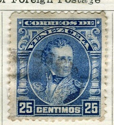 VENEZUELA;  1904 early Sucre issue fine used 25c. value