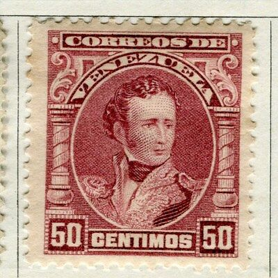 VENEZUELA;  1904 early Sucre issue Mint hinged 50c. value
