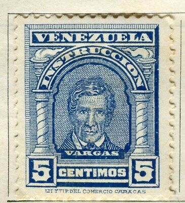 VENEZUELA;  1911 early Portraits issue Mint hinged 5c. value