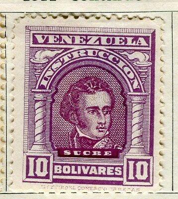 VENEZUELA;  1911 early Portraits issue Mint hinged 10B. value