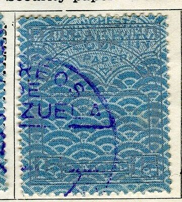 VENEZUELA;  1932 early AIR issue fine used 15c. value