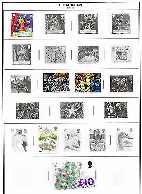 150 Great Britain 1992-2002  stamps