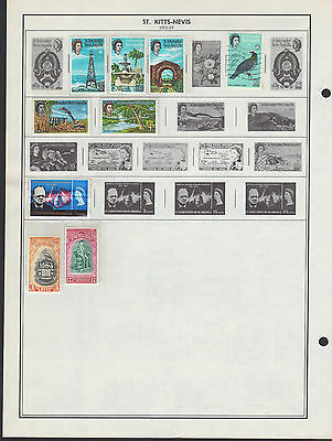 14 St Kitts-Nevis 1963-1977 stamps