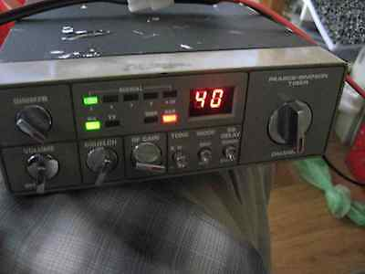 Pearce-Simpson TIGER UHF CB RADIO 40 CHANNEL with Mic power lead and tested.
