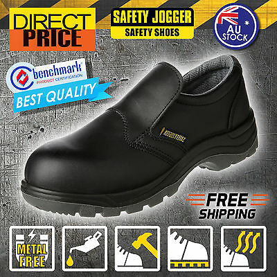 Clearance!! NEW Safety Jogger Boots Work Black Steel Toe Leather Shoes X0600