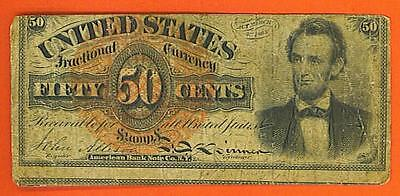 1869-1875 50¢ HISTORICAL LINCOLN United States Fractional!