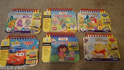 Lot of 6  My First Leap Frog LeapPad Books with Matching Cartridges
