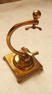 Vintage Pocket Watch Holder Usa Brass Stamped & Marked With Maker