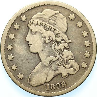 1838 Capped Bust Quarter, Choice Very Fine, Original And Problem Free, Rare!