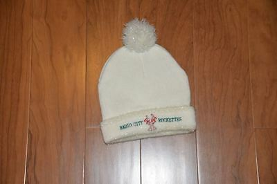 Girl's Knit Winter Hat, ivory colored, one size, EUC