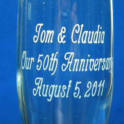 50th Wedding Anniversary Toasting Glasses, Engraved Personalized, 10th 20th 25th