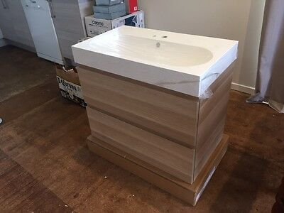 2 Wall Hung Bathroom Vanities