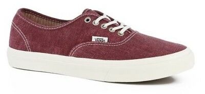 Vans Authentic Slim (Stripes) Washed Tawny Port Casual Shoes WOMEN S 8.5 3478f66e7