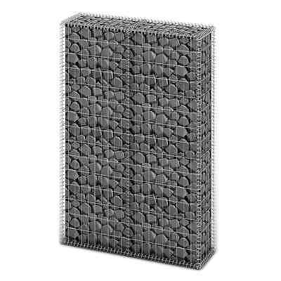 S# New Gabion Wall 4mm Strong Metal Gabions Basket Cage 150x100cm Galvanized Ste