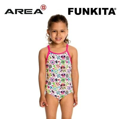 Funkita Crazy Critters Toddler Girls Printed One Piece , Toddler Girls One Piece
