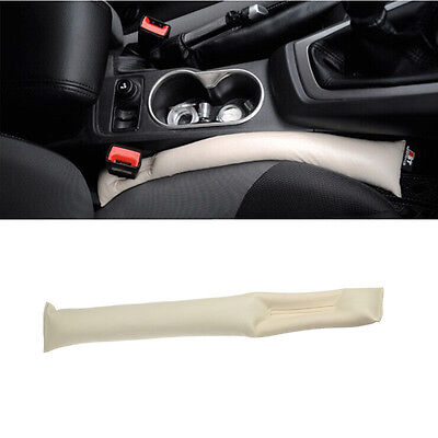 HOT Faux Leather Car Seat Pad Gap Fillers Holster Spacer Filler Padding Beige