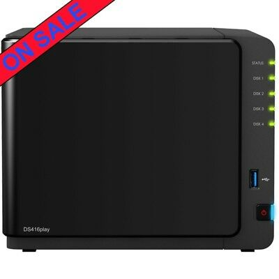 Synology DiskStation DS416play 8tb NAS Server 4x2000gb WD Blue Drives