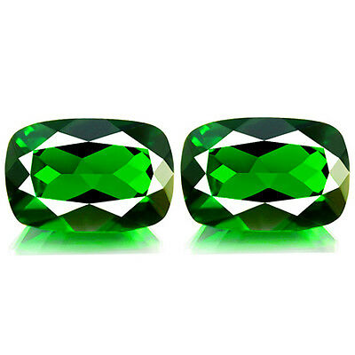 1.84ct EYE CLEAN NATURAL EARTH MINED RARE 5A GREEN CHROME DIOPSIDE PAIR REF VDO
