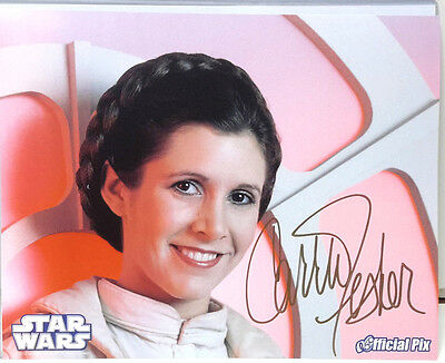 Star Wars Carrie Fisher as Princess Leia Autograph 8x10 Color Photo (EBAU-1261)