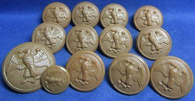 WWII WAC Womens Army Corps Buttons Lot Of 13