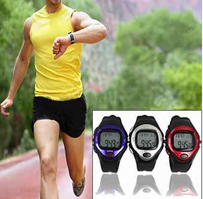 Exercise Pulse Heart Rate Monitor Calorie Counter Sports Watch Silver Calories