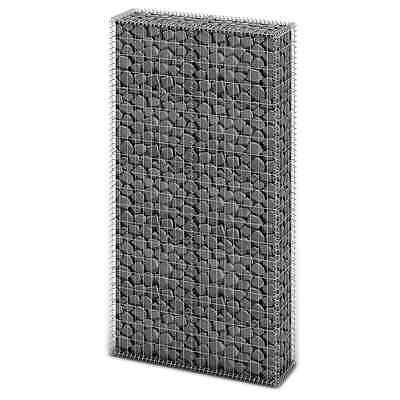 New Gabion Wall 4mm Strong Metal Gabions Basket Cage 200x85cm Galvanized Steel
