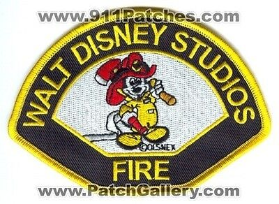 Walt Disney Studios Fire Department Patch California CA