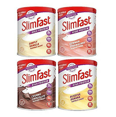 SlimFast 4-pack Multiple Flavours Shake Powder Diet Nutrition Weight Loss Best