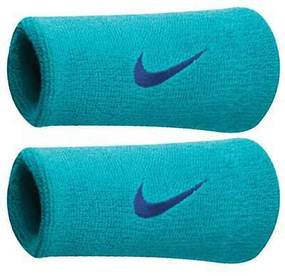 NIKE UNISEX DRY FIT DOUBLEWIDE WRISTBANDS 2.0 FEDERER/NADAL  SUPERB absorption!!