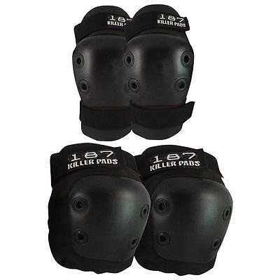 187 Combo Pack Knee & Elbow Pads (Size L/xl) Black Skateboard