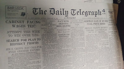Old Daily Telegraph newspaper 1948