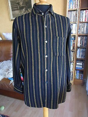 CHEMISE HOMME EPAISSE RAYURES T S VINTAGE 60 S MAN STRIPED THICK SHIRT siz S
