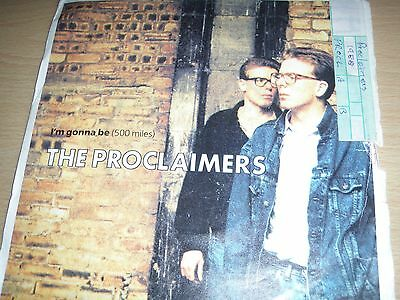 "The Proclaimers I'm Gonna Be (500 Miles) b/w Better Days 7"" Vinyl 1988 CLAIM 2"