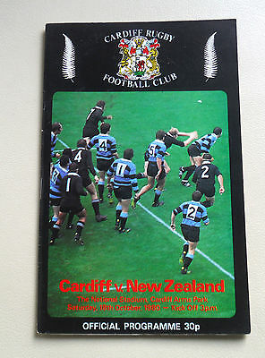 RUGBY UNION-CARDIFF v NEW ZEALAND PROGRAMME-1980-ARMS PARK