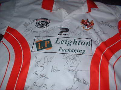 Leigh Centurions Signed Adult Large Rugby League Shirt Jersey Top Patrick