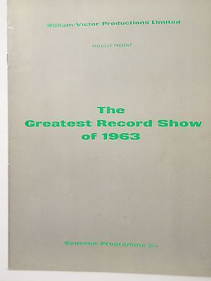 The Greatest Record Show Of 1963 Programme Signed By Brook Benton & Dion