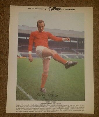 Nobby Stiles, Manchester United - Typhoo Tea Football Card Excellent Condition