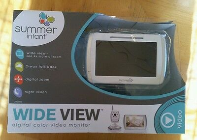 Summer Infant Wide View Digital Color Video Monitor Set 29000B -New Open Box