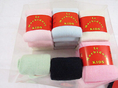 Calzini Soft Bambina In Lana - Tubetto 6 Paia / 12 Paia Assortito - Kids Socks